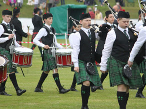 Scotland tour - marching up to the line