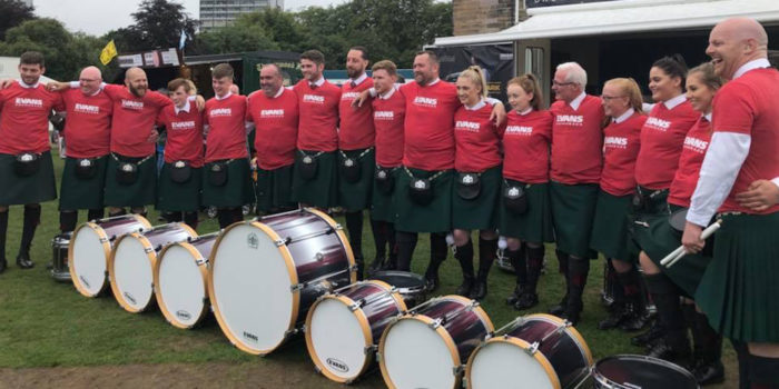 St Laurence O'Toole Pipe Band Drum Corps 2018 - Champion of Champions